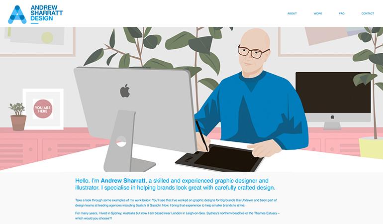 Andrew Sharratt Design website